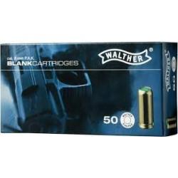 Munición Walther Fogueo 9 mm P.A.K Pistola 50 unid