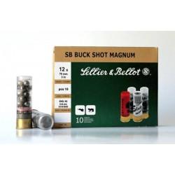 Cartucho Sellier&Bellot 12 Buckshot 00