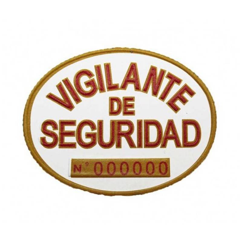Placa Homologada VIG. SEG. y EXPL. Pecho PVC