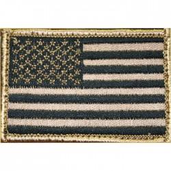 Parche Blackhawk Insignia Bandera USA Marrón Rev