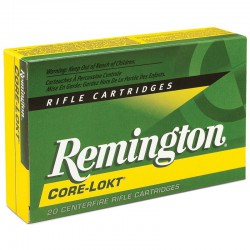 Munición Remington 243 Win. Core Lokt 100g.