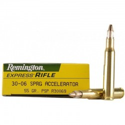 Munición Remington 30-06 Spr 55g. Accelerator