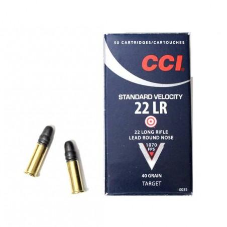 Munición CCI .22 LR 40 gr Standard LRN