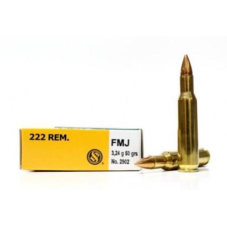 Munición Sellier&Bellot .222 Rem 50 FMJ