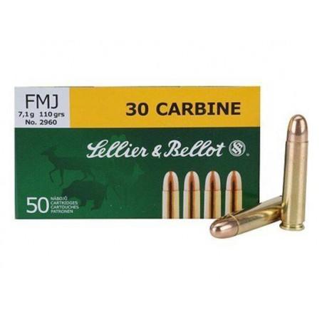 Munición Sellier&Bellot .30 Carbine 110 FMJ