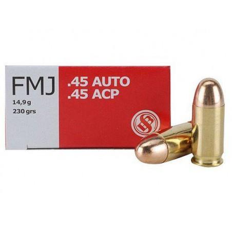 Munición Sellier&Bellot .45 ACP 230 FMJ