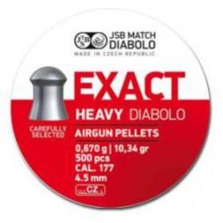 Balín JSB Diabolo Exact Heavy 4.52 - 0.670 500 und